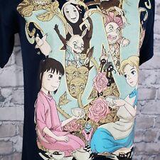 Teefury Alice In Wonderland Spirited Away Womens Tshirt Size Small Navy Anime