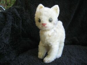 Rare 1968/76 German Steiff Cat w. Button  ! Lizzy !