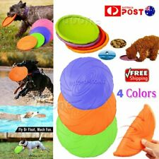 Multi-function Dog Frisbee Outdoor Training Toy Soft Rubber Silicone Flying Disc