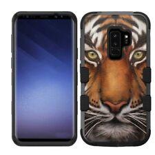 Samsung Galaxy S9 Plus Rugged Impact Hybrid Cover Case Tiger Design #F