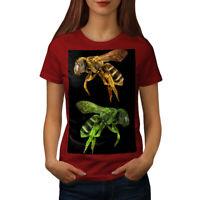 Wellcoda Bee Bug Insect Art Womens T-shirt, Huge Casual Design Printed Tee