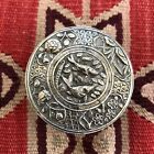 Nice! Sterling Silver Antique Chinese Or Japanese Aesthetic Pill / Snuff Box