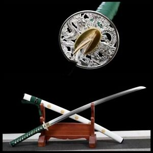 hand forged 1095 high carbon steel blade sharp japanese samurai katana sword