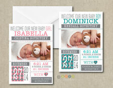 25 Personalized Modern Style Photo Birth Announcements