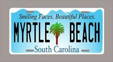 "SOUTH CAROLINA ""MYRTLE BEACH"" custom novelty license plate-6""x12"" A"