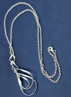 Solid 925 Sterling Plain Silver Jewelry Handmade Woman's Wear Gift Necklace