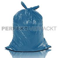 250 Müllsäcke 120L blau Abfallbeutel Mülltüten Abfallsack Müllbeutel