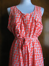 Gap Women's Multi Color Stylish Belted Pocketed Dress New