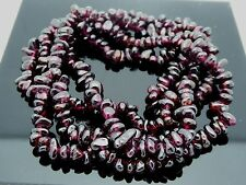 "Natural Garnet Burgundy Red  Freeform Nugget Chip Gemstone Beads Long 35"" Strand"