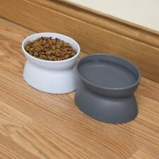 2-PacK Pet Dog Cat Food Bowl Water Bowl Feeder Dish Raised Elevated Stand