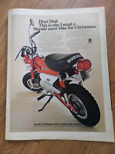 1970 Suzuki Motorcycle Scooter Ad Mini-Bike for Christmas    Trailhopper