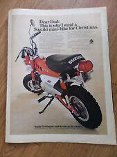 1970 Suzuki Motorcycle Scooter Ad Mini-Bike for Christmas    Trailhopper