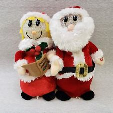 Mr & Mrs Claus Caroling Animated Singing Moving and Lighting We Wish You a Merry