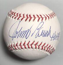 "Johnny Bench ""Hof 89"" Cincinnati Reds Autographed Mlb Baseball w/ Jsa Coa"