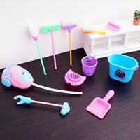 1:12 Dollhouse Miniature Mini Accessories Plastic Baby Furniture Cleaning Tools