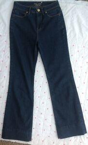 "M&S Per Una Bootleg Dark Blue Jeans Size UK 8 27"" Or 30"" Leg Ex Condition Indigo"