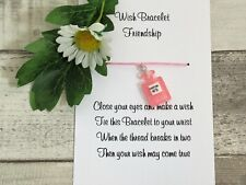 Friendship Pink Perfume Wish Bracelet Friends Gift Resin Charm Anklet Birthday