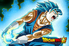 Dragon Ball Super Poster Goku Vegeta Fusion Vegito Blue 12inx18in Free Shipping