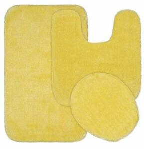 Garland Rug Traditional Bath Rug 3-Piece Set Rubber Ducky Yellow
