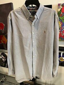 Ralph Lauren Button Down Shirt Men's Size XL Oxford Long Sleeve Classic Fit