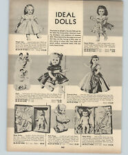 1956 PAPER AD Ideal Dolls Magic Lips Saucy Walker Princess Mary Betsy Wetsy
