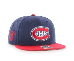 Montreal Canadiens NHL Hockey '47 Brand adjustable snapback Cap Hat new navy red