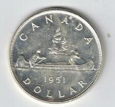 CANADA 1951 SWL VOYAGEUR SILVER DOLLAR KING GEORGE VI CANADIAN SILVER COIN