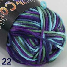 AIP Soft Baby Cotton Yarn New Hand dyed Wool Socks Scarf New Knit 1Skeinx50gr 22