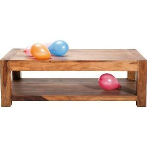 Boston Natural Contemporary Solid Wood Rectangular Coffee Table (MADE TO ORDER)