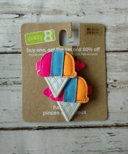 NWT Crazy 8 patent ice cream cone barrettes set of 2 Spring Break 2011 CUTE!