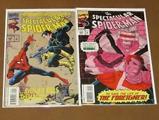 SPECTACULAR SPIDER-MAN 209 210 VF/NM 2 COMPLETE STORIES PUNISHER BLACK CAT FLASH