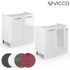 VICCO Spülenunterschrank 80 cm Küchenschrank Hängeschrank Küchenzeile Fame-Line
