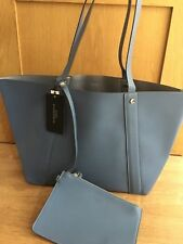 a039754b3ebd ZARA REVERSIBLE TOTE BAG blue silver Brand new