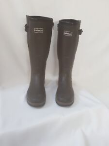 Brown Wellies - Jersey Lined, Adjustable Gusset and Zip– UK Size 6.5