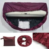 Air Conditioner Dark Purple Cleaning Washing Clean Waterproof Cover For 1P-1.5P