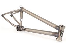 "S&M BIKES ATF FRAME CLEAR 21.5 TT BMX BIKE RAW  LTF FIT ALL PRIMER LTF 21.5"""