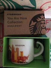 Starbucks Coffee cup 2016 HOUSTON YAH You Are Here MINI MUG, ORNAMENT 2oz NWT