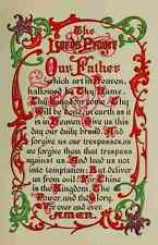 A4 Photo Unknown Captivating Bible Stories 1913 The Lords Prayer Print Poster