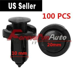 100 Pcs Retainer Clips Fasteners Bumper Hood Fender Splash Guard For Honda Acura
