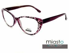 """(2 PAIRS) MIASTO """"BIG CAT EYE"""" SEXY READER READING GLASSES+2.25 LARGE (2 COLORS)"""