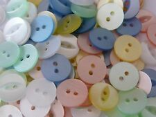100 ASSORTED COLOURS FISHEYE BUTTONS SIZE 18 - 11MM