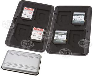 EVA Speicherkarten Memory Card Case für 8 SD/SDXC Karten Silber Tragetasche