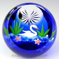 Caithness Scotland Art Glass PAPERWEIGHT SWAN Limited Ed. of 150 William Manson