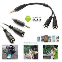 3.5mm Male TRRS to 2 Female TRS Audio Connector TRRS Y Splitter Cable Adapter VF