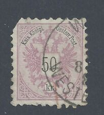 AUSTRIA 1883 50k. bright purple Used  SG 75