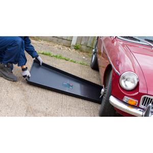 Black Plastic Large Low Profile Drip Tray 110cm x 55cm x 5cm Garage Workshop DIY