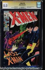 X-MEN #59 CGC 8.0 (1969) OWW STAN LEE SS SIGNED  QUICKSILVER #1206484007
