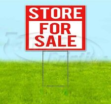 STORE FOR SALE 18x24 Yard Sign WITH STAKE Corrugated Bandit USA BUSINESS REALTY