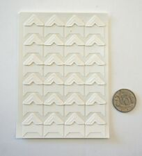 Photo Corners Stickers - White with Adhesive Backing - Scrapbooking NO 532