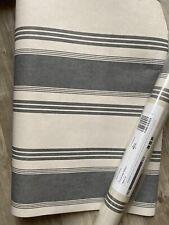 Laura Ashley Charcoal Stripe Wallpaper - 6 Rolls